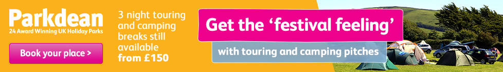 Parkdean - Get the festival feeling with touring and camping pitches